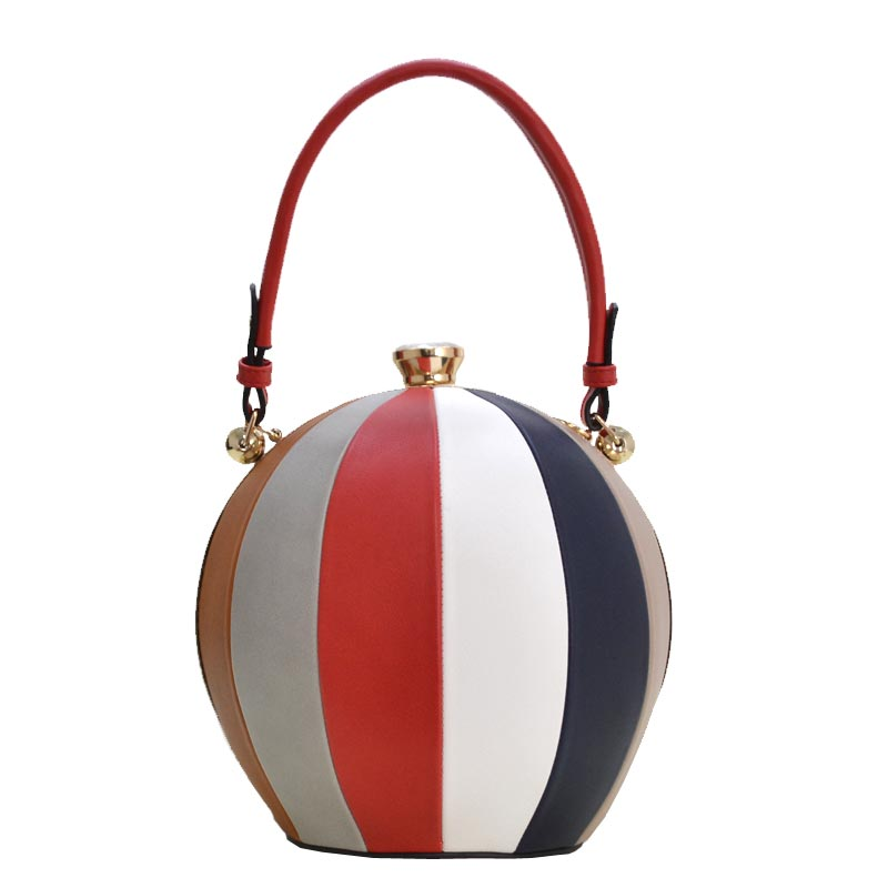 Unique Ball Shape Fashion Bag Red