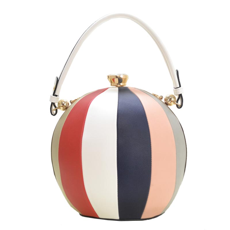 Unique Ball Shape Fashion Bag White