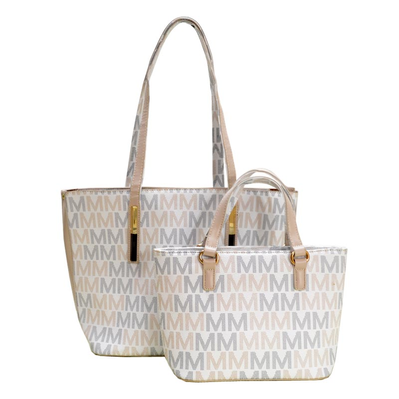 Milan 2 in 1 Tote White