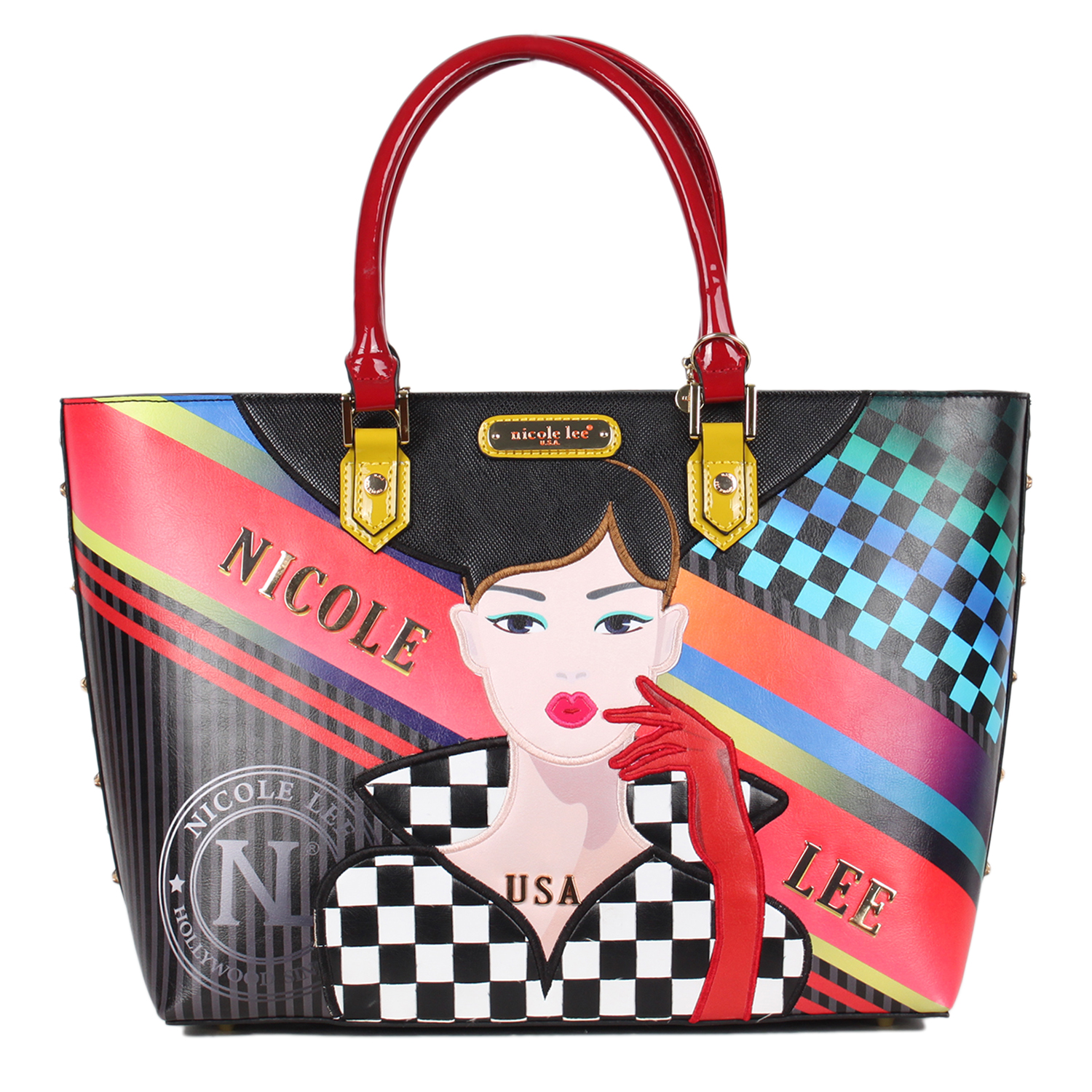 RACING GIRL PRINT SHOPPER BAG