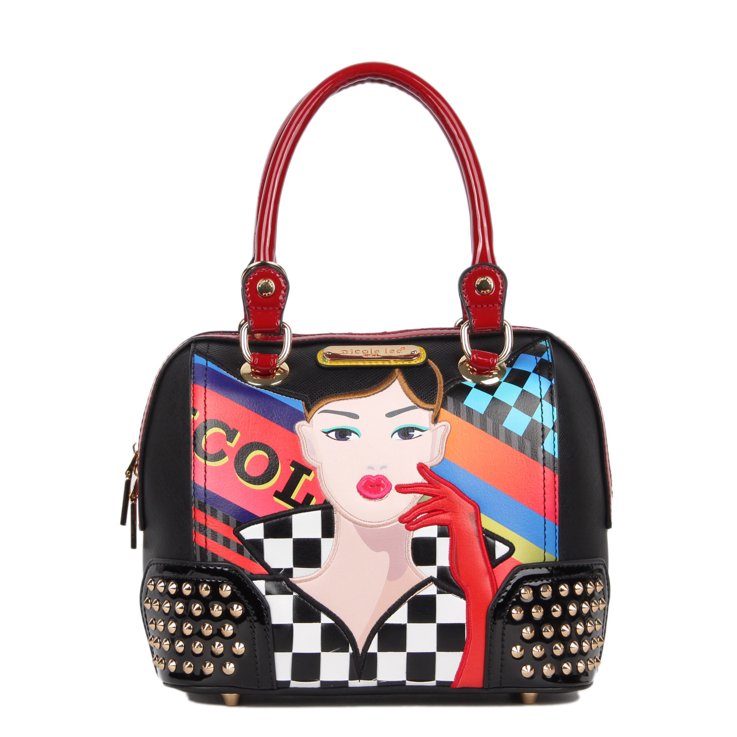 RACING GIRL PRINT SMALL DOME BAG