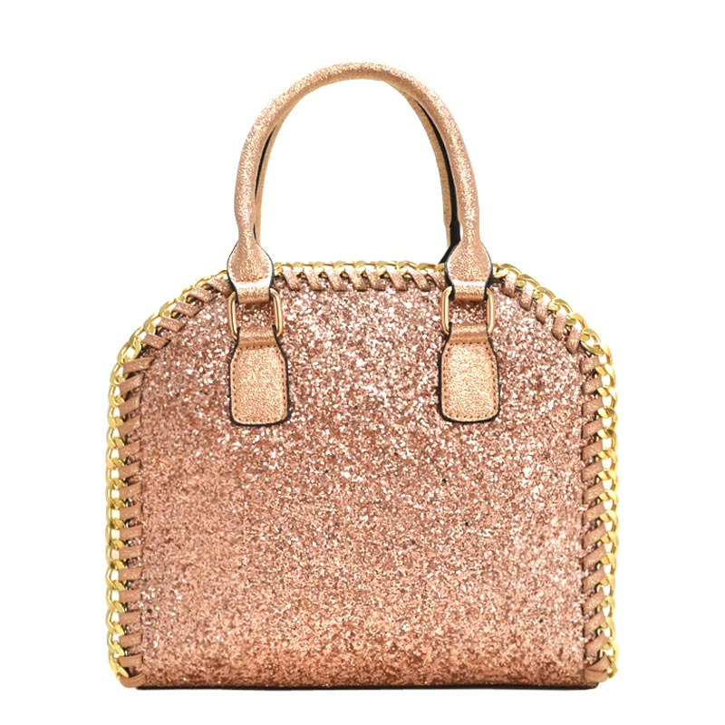 Bling Bling Fashion Satchel Rose Gold