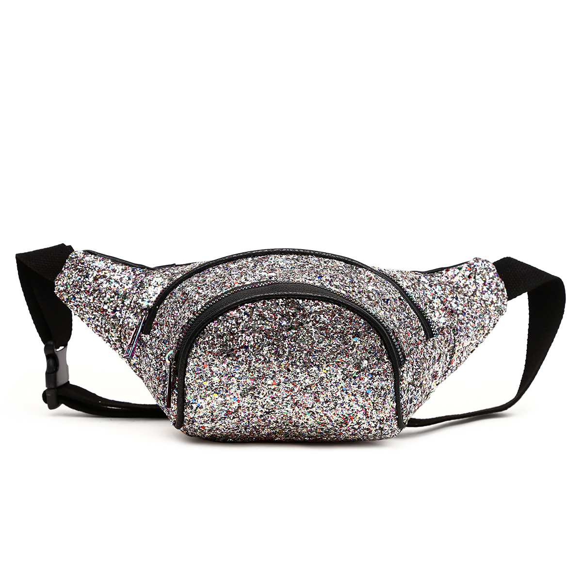 Glittered Fanny Pack Pewter