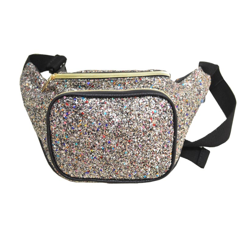 Glittered Fanny Waist Pack Pewter