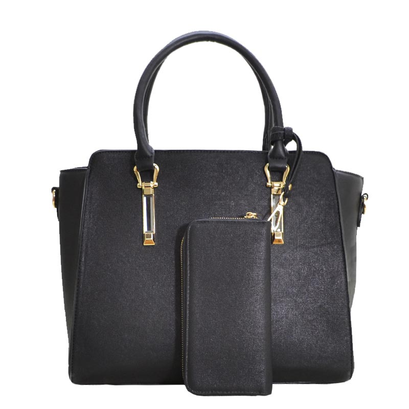 Elegance Women Satchel Black