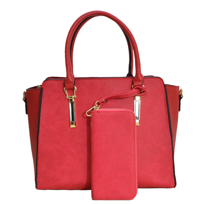 Elegance Women Satchel Red