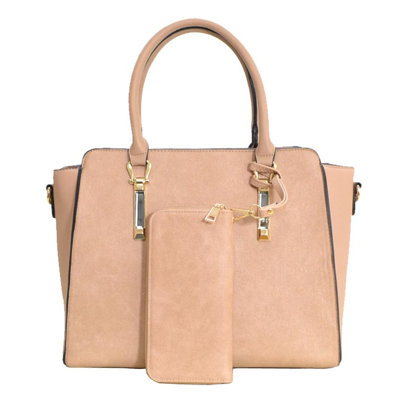 Elegance Women Satchel Tan