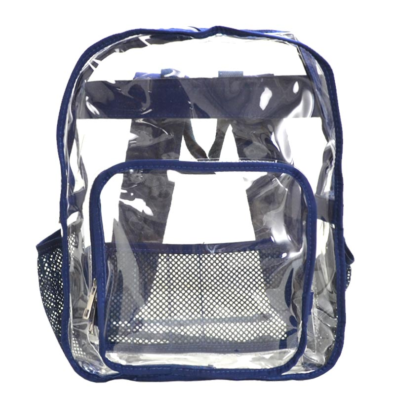 Clear Backpack Navy