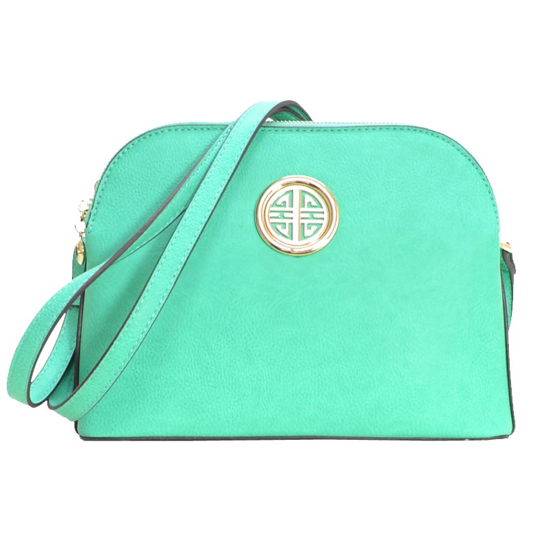 Leather Shoulder Strap Handbag Turquoise