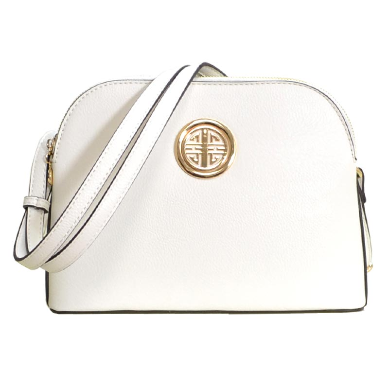 Leather Shoulder Strap Handbag White