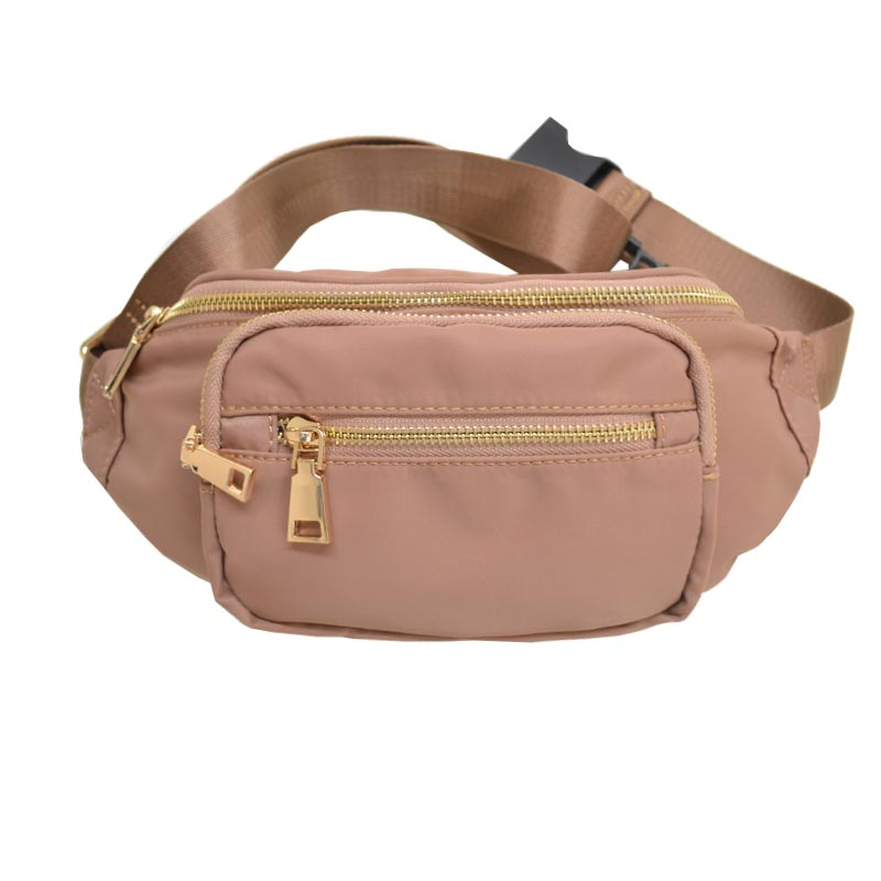 Nylon Twill Fashion Fanny Pack Light TAN