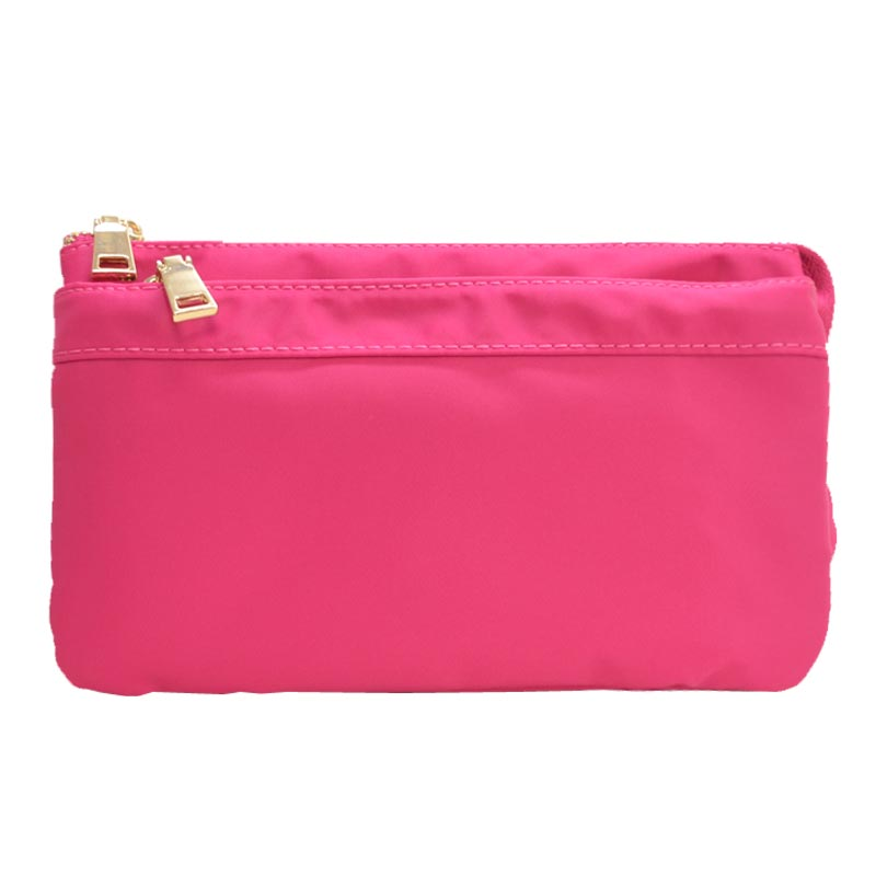 Nylon Twill Multi Compartment Fashion Fanny Pack Fuchsia