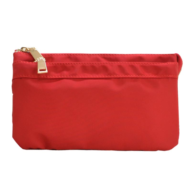 Nylon Twill Multi Compartment Fashion Fanny Pack Red