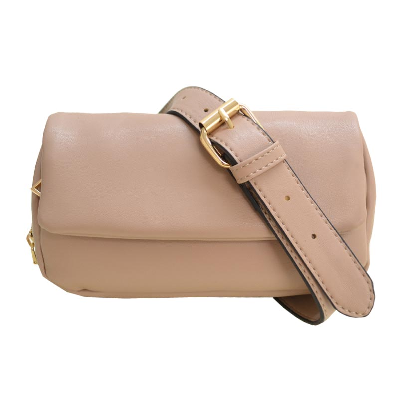 Multi compartment Fashion Fanny Pack Light Taupe