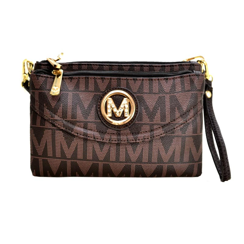 Five Compartments Caprice M Signature Cross-body Chocolate