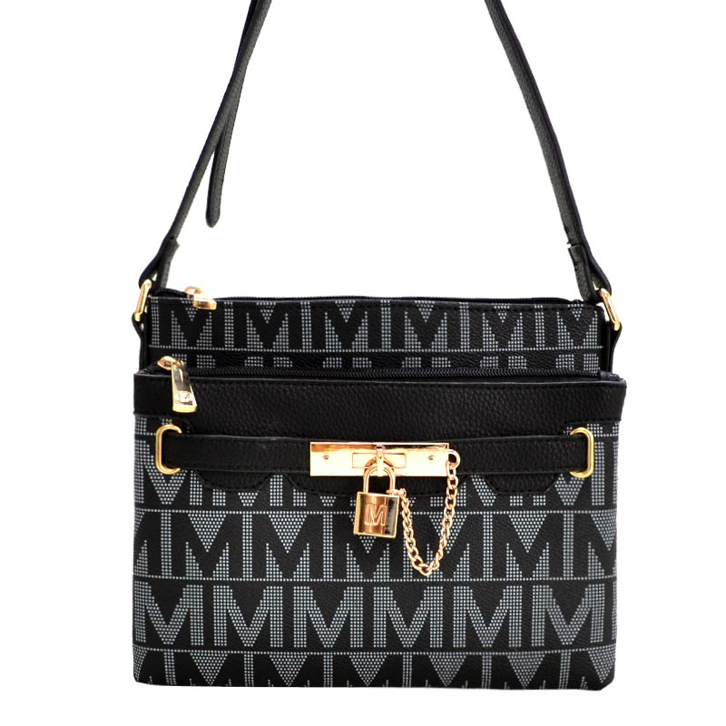 Mia K Farrow Tessa M Signature Crossbody Black