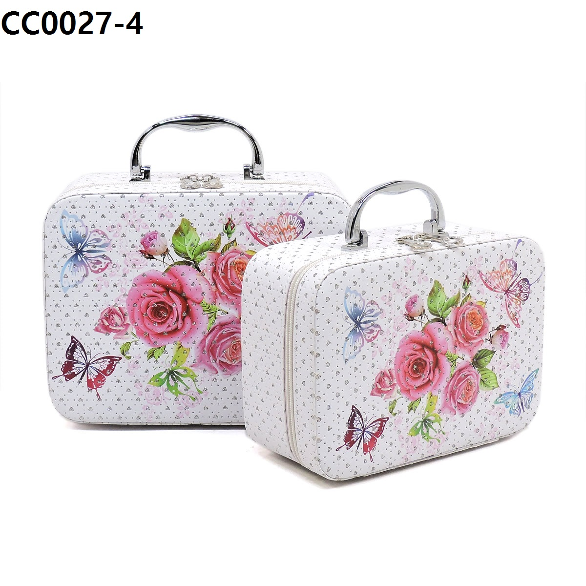 Flower Printed 2 in 1 Cosmetic Bag 4