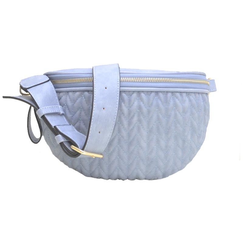 Chevron Quilted Fashion Pack Light Blue