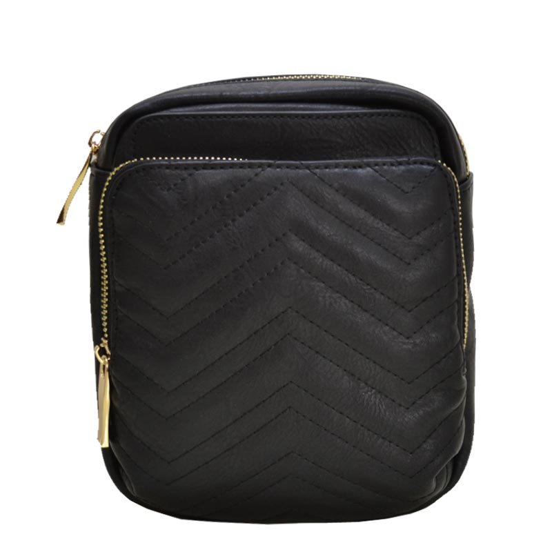 Chevron Quilted Fashion Pack Black