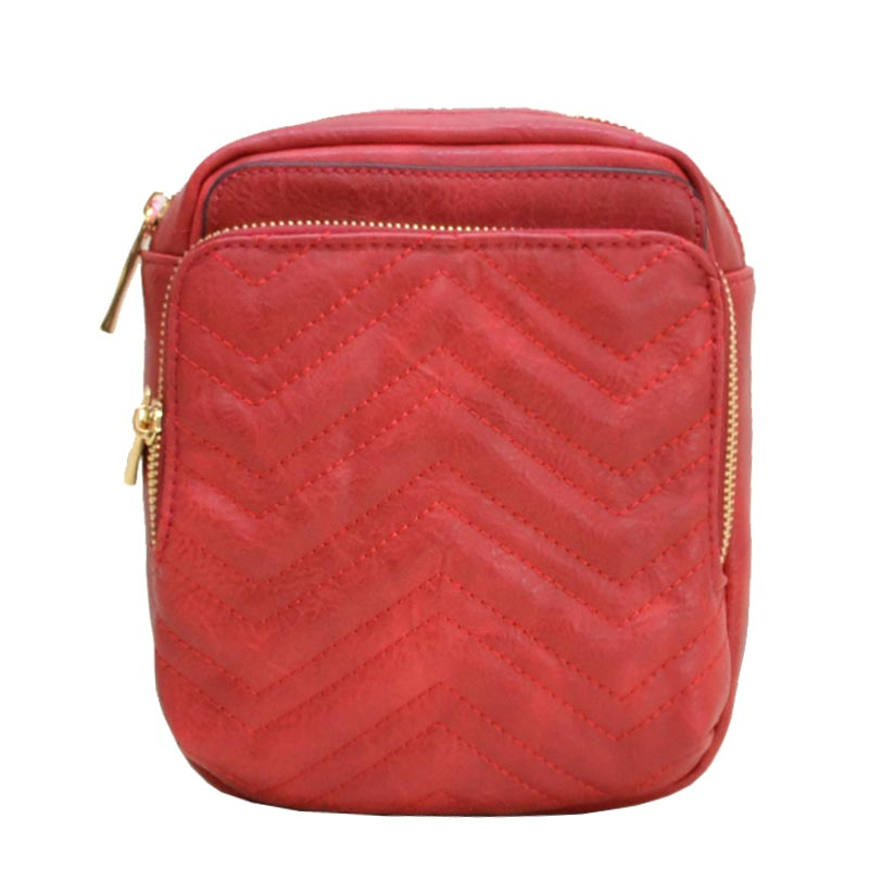 Chevron Quilted Fashion Pack Red