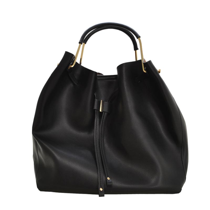 Fashion Convertible 2-in-1 Hobo Bag Black