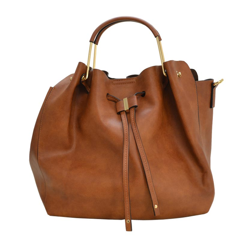 Fashion Convertible 2-in-1 Hobo Bag Brown
