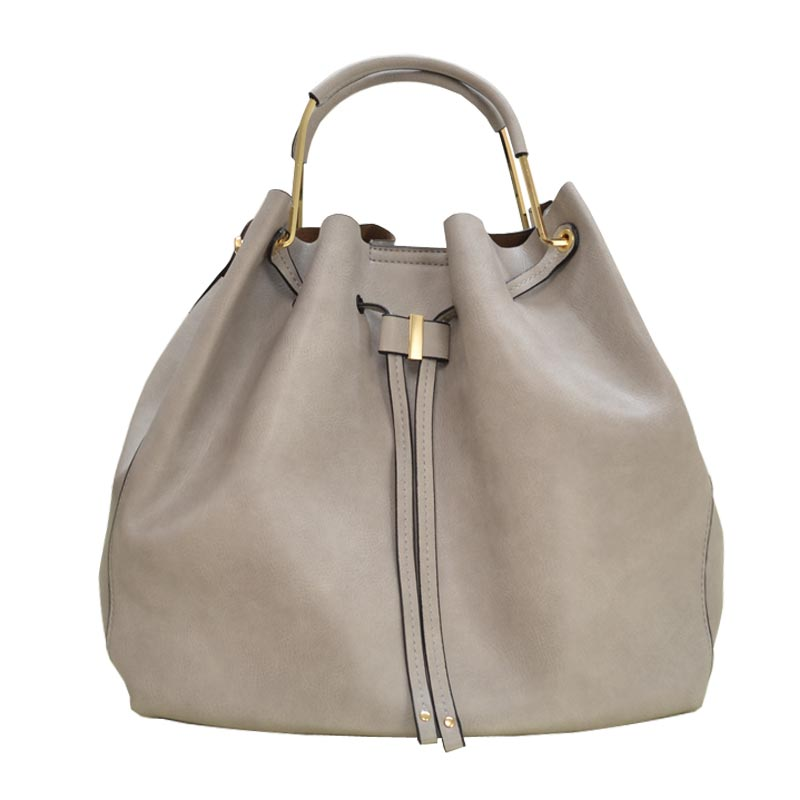 Fashion Convertible 2-in-1 Hobo Bag Light Grey