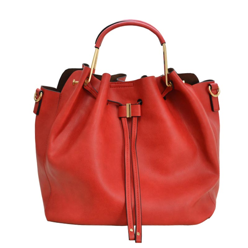 Fashion Convertible 2-in-1 Hobo Bag Red