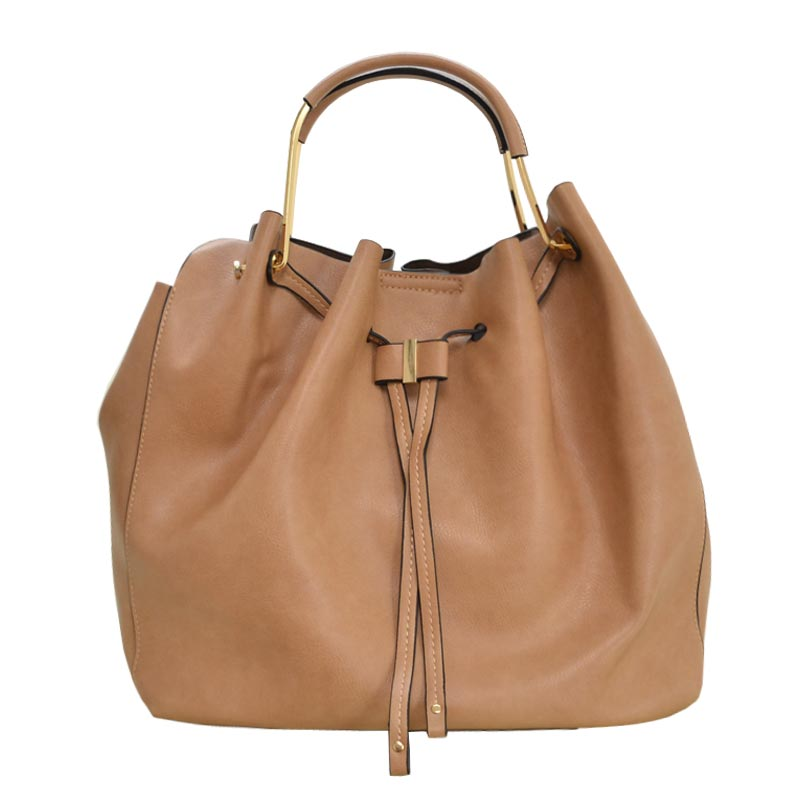 Fashion Convertible 2-in-1 Hobo Bag Taupe