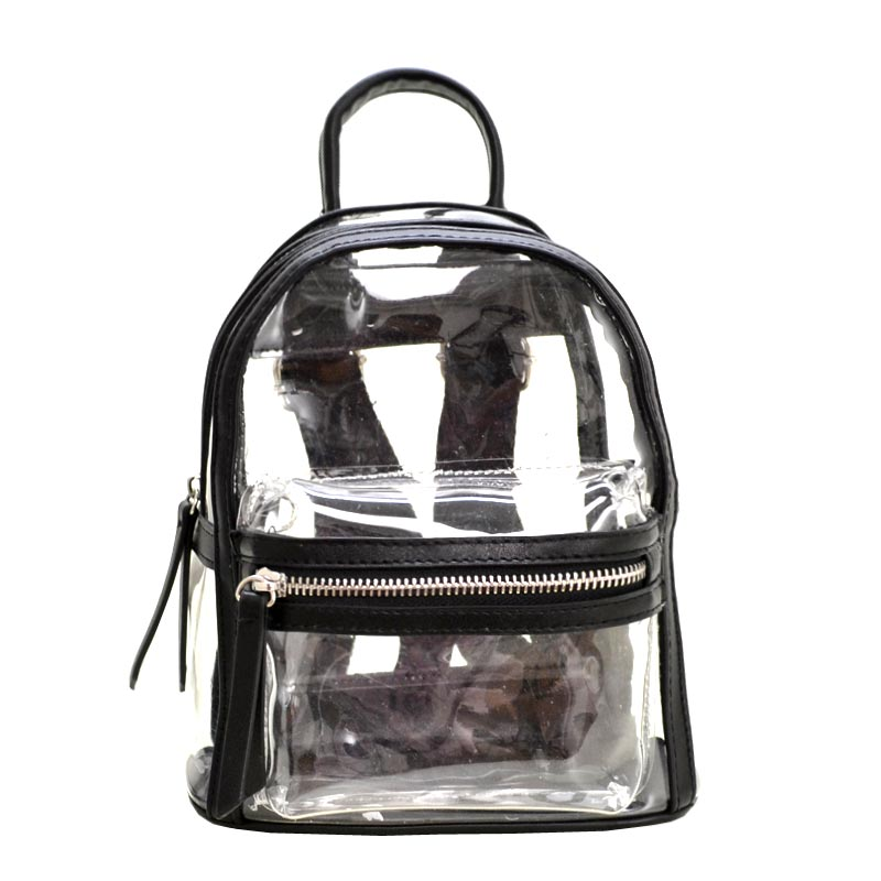 Clear mini backpack Black