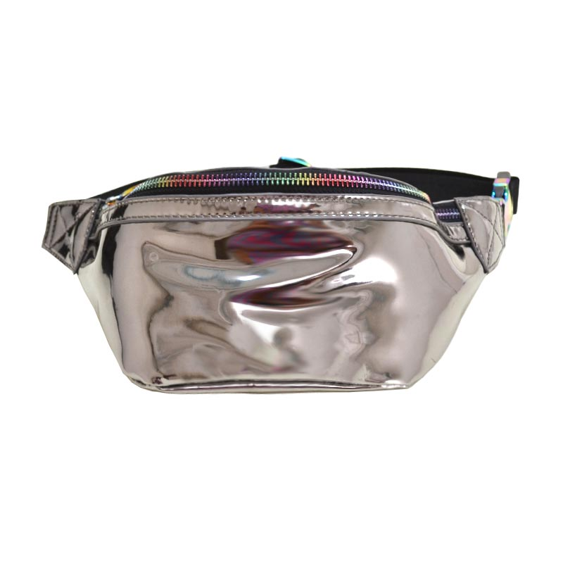 Fashion Glossy Trendy Waist Bag Metal
