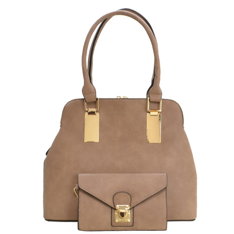 Trendy 2 in 1 fashion Bag Taupe