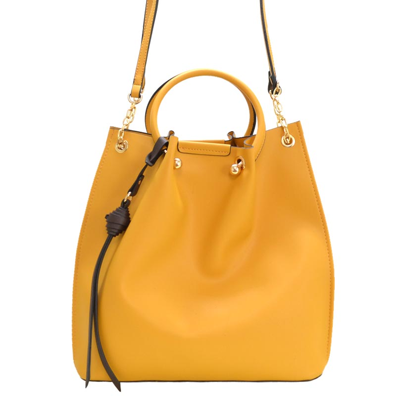Fashion Convertible 2-in-1 Satchel Mustard