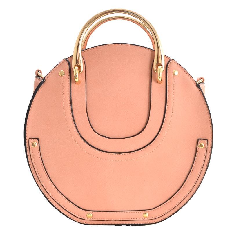 d9de660b279c Fashion Top Handle Round Satchel Pink