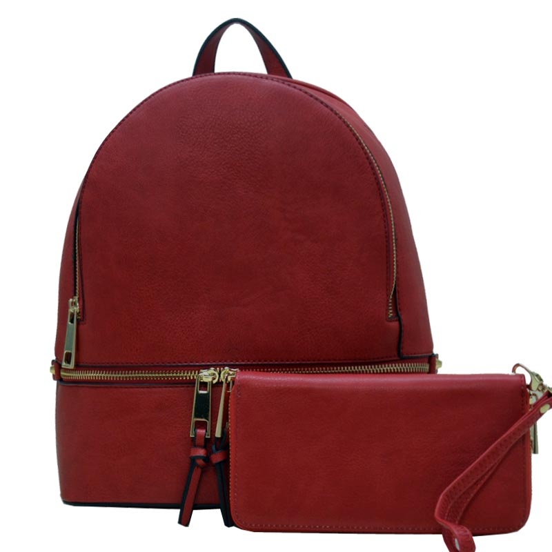 2 in 1 Fashion Backpack Cranberry