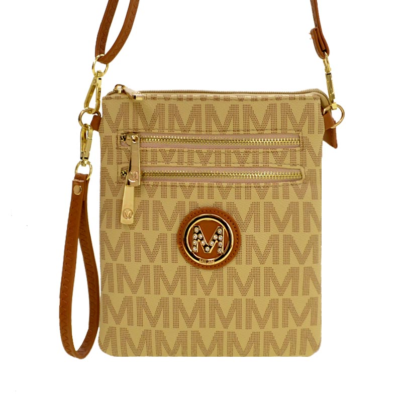 Milan M Signature Crossbody Beige