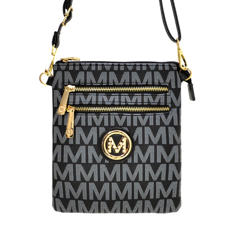 Milan M Signature Crossbody Black