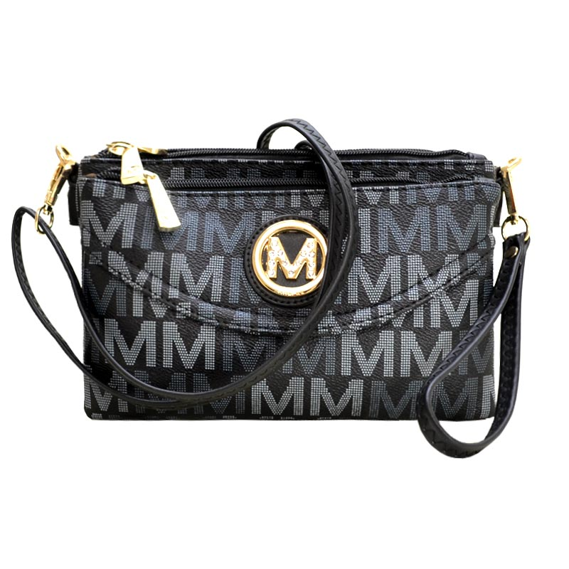 Five Compartments M Signature Crossbody Black