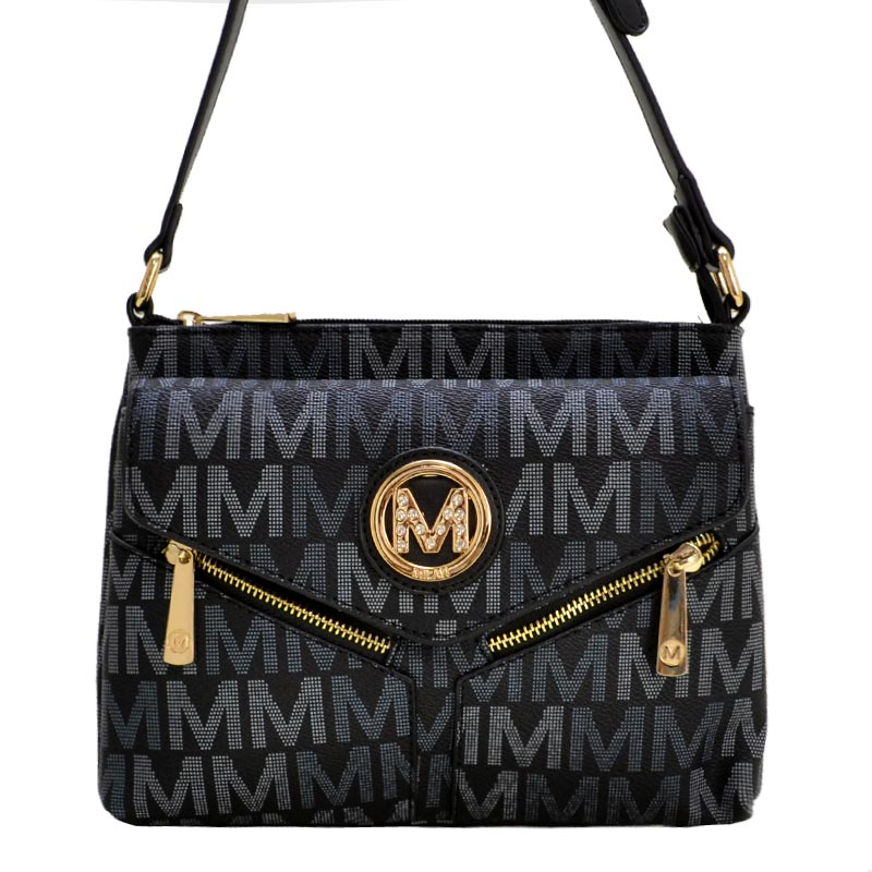 Nathy Milan M Signature Crossbody Black