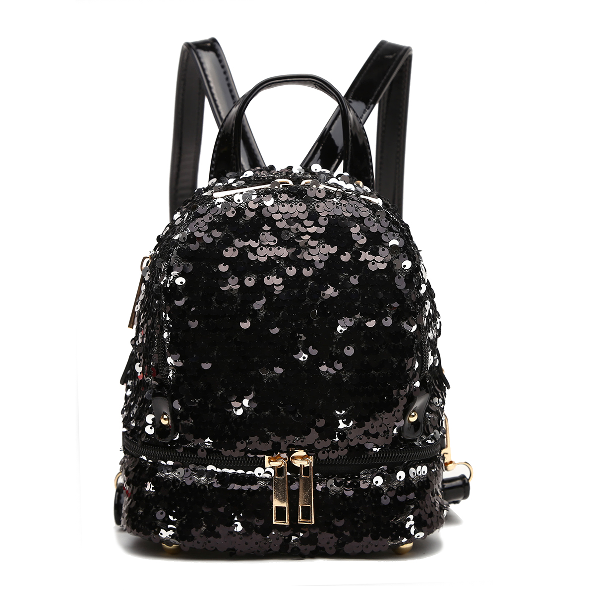 Sequins Small Fanny Back Pack Black