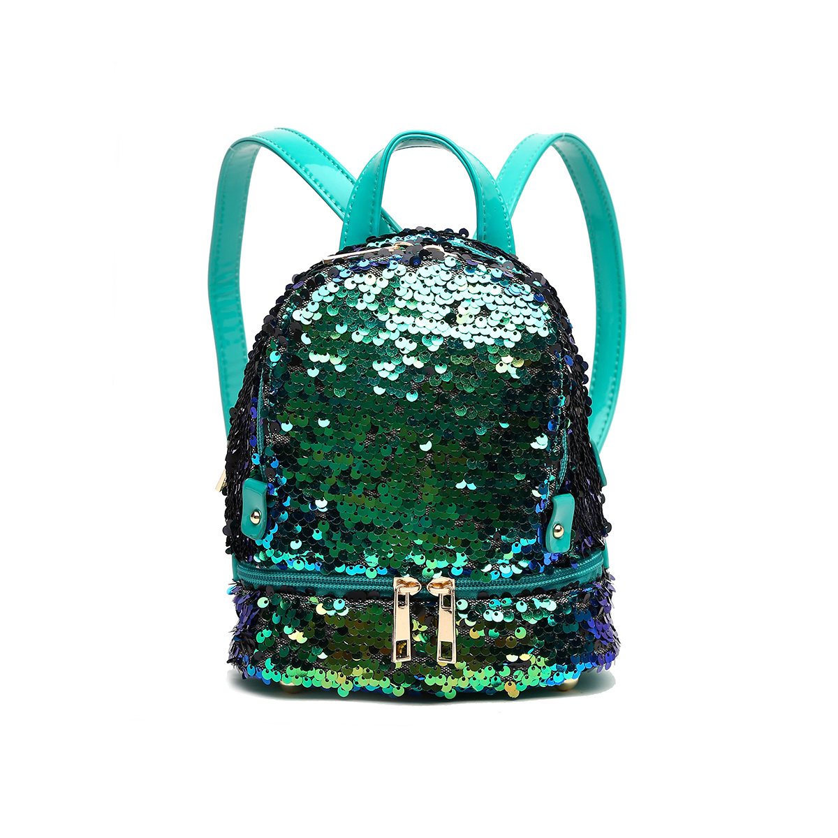 Sequins Small Fanny Back Pack Emerald