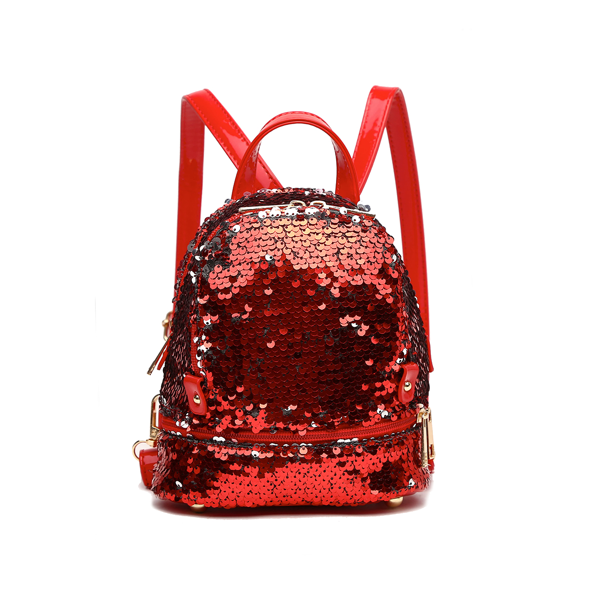 Sequins Small Fanny Back Pack Red