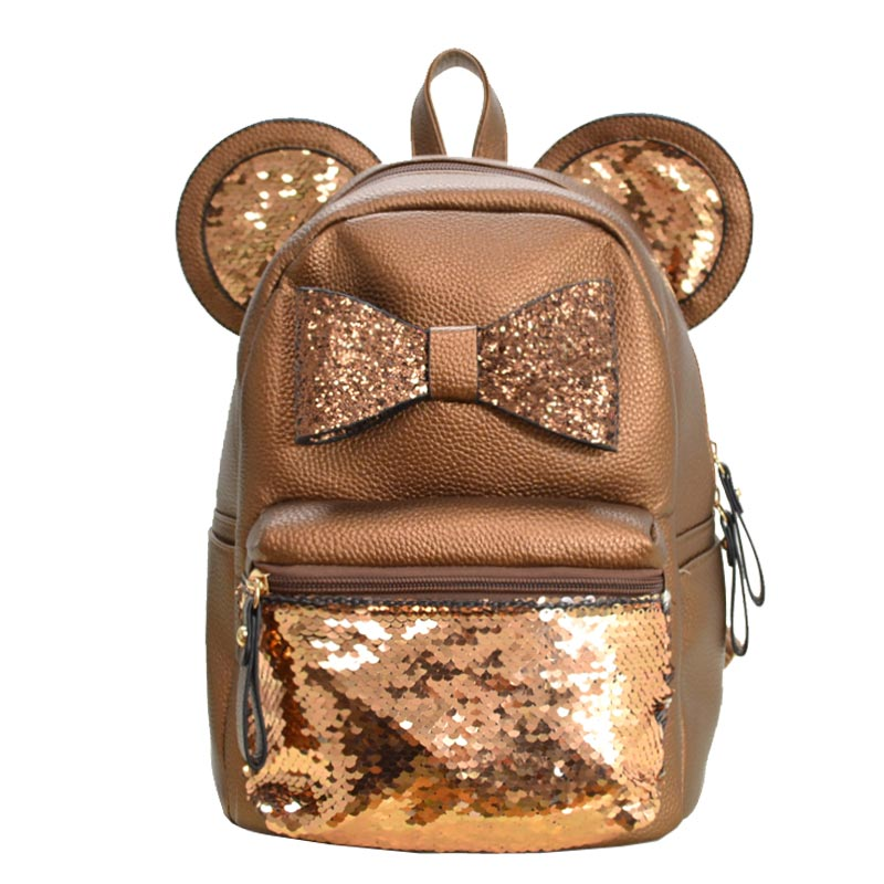 Mickey Ear and Reborn Backpack Bronze