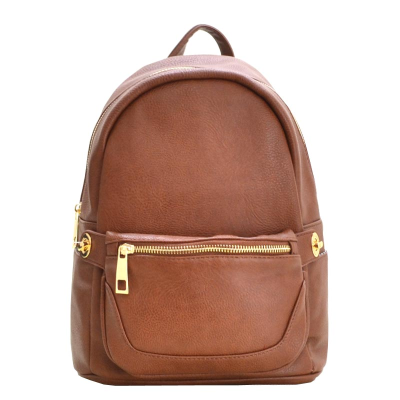 2 in 1 Fashion Backpack Fanny Pack Set COFFEE