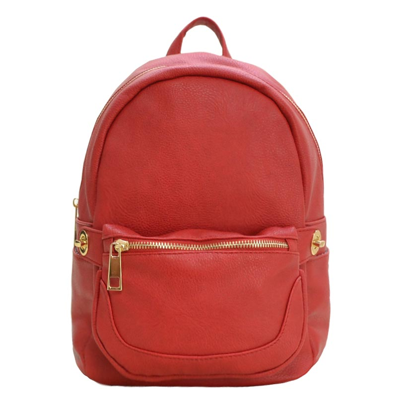 2 in 1 Fashion Backpack Fanny Pack Set RED