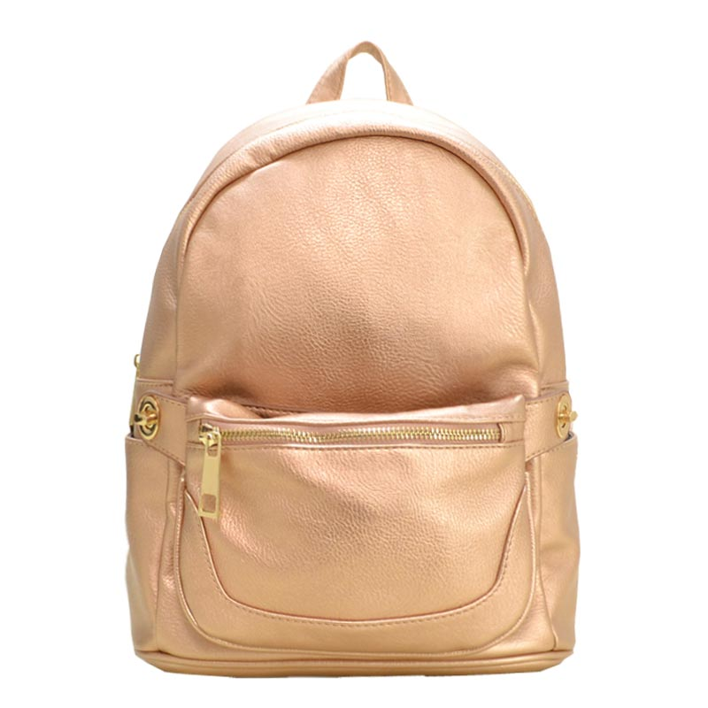 2 in 1 Fashion Backpack Fanny Pack Set ROSE GOLD