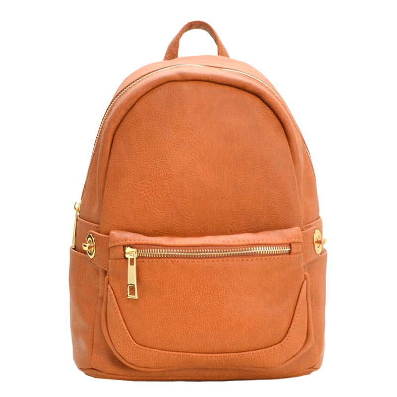 2 in 1 Fashion Backpack Fanny Pack Set TAN