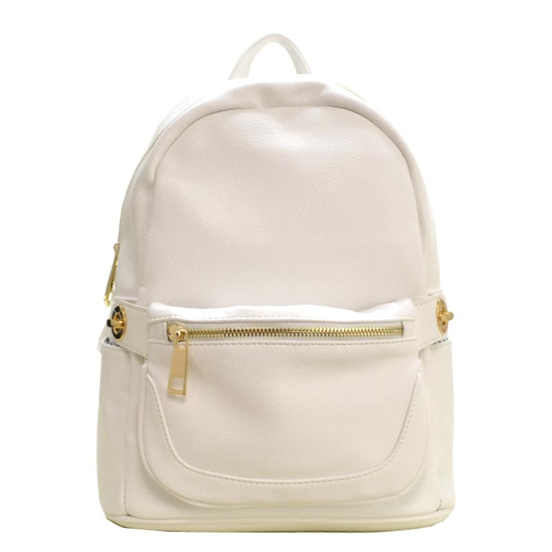 2 in 1 Fashion Backpack Fanny Pack Set WHITE