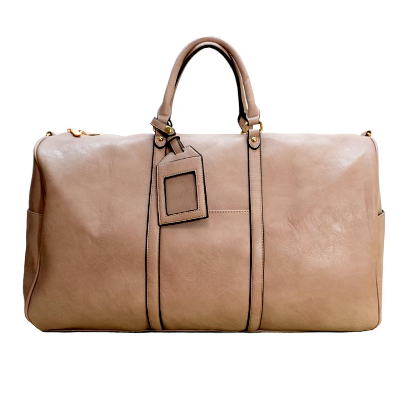 Unique Duffel Bag Taupe