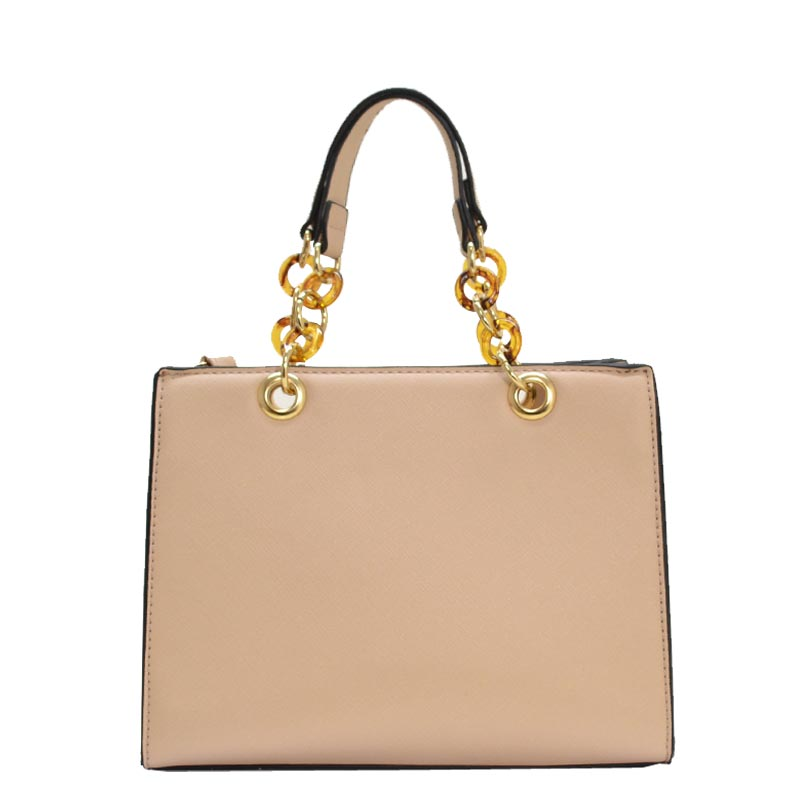 Elegance Style Hand Bag Beige - Click Image to Close